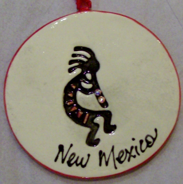 Kokopelli ornament By: BeckieLee Couture