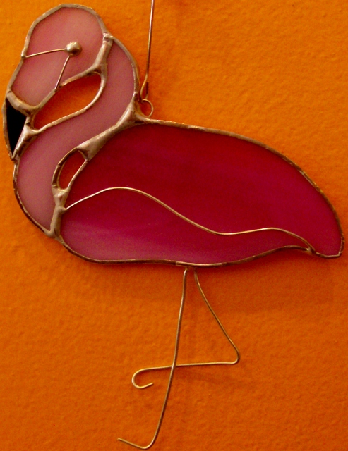 Flamingo ornament By: Clara Foshee