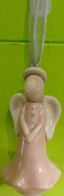 Angel ornaments pink By: BeckieLee Couture