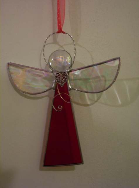 Stained glass angel ornament By: Clara Foshee
